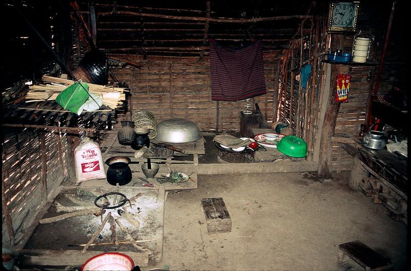 inside of house in Laotian village