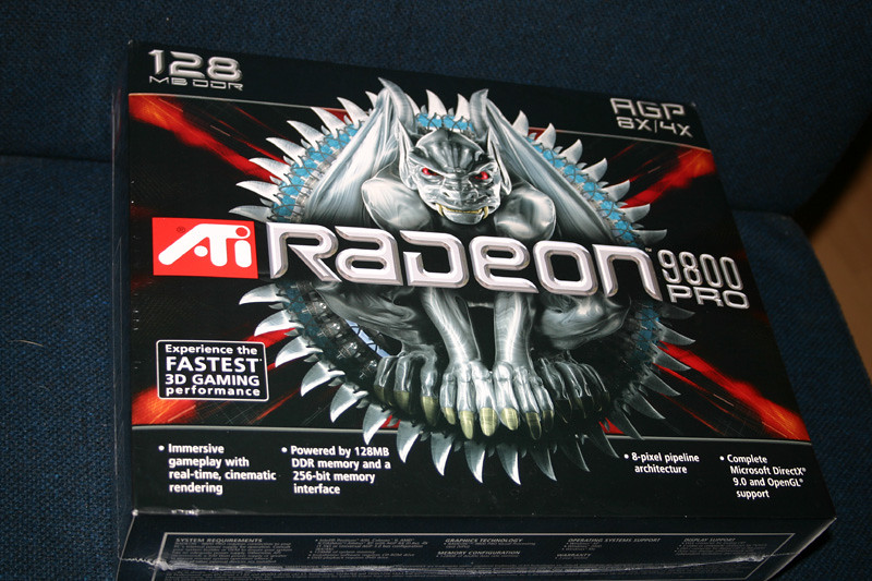 Video card - ATi Radeon 9800 Pro 128mb