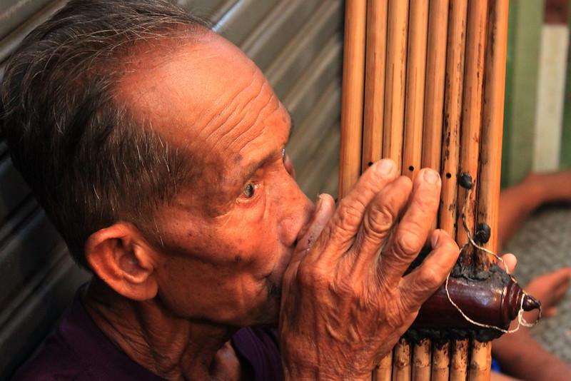 A busker from Buriram province
