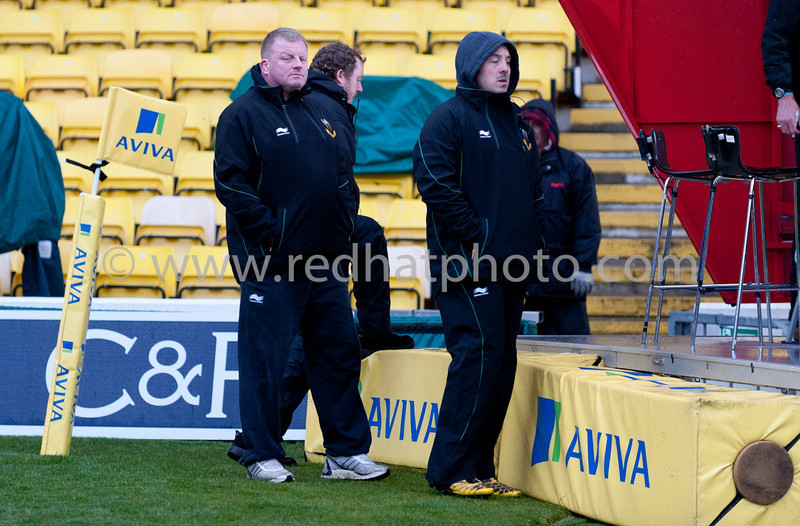 Saracens vs Northampton Saints, Aviva Premiership, Vicarage Road, 4 March 2012