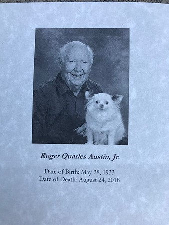 2018_09_01 In Memory of Roger Austin, Jr.