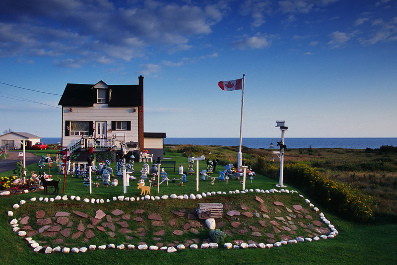 Maison colorée près de Bonaventure - Gaspésie