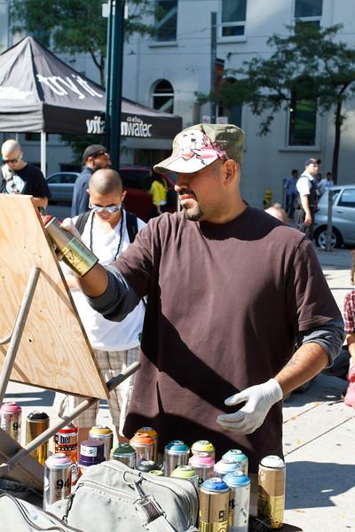 Cruz1 at the Street Art Festival
