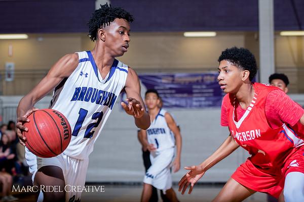 Broughton boys JV basketball vs Sanderson. February 11, 2019. 750_5726