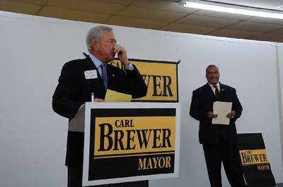 Mayor Brewer Annoucement for Re Election Oct 14, 2010