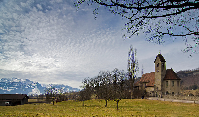 St. Michael's Church,  built 1442.  Feldkirch, Austria.