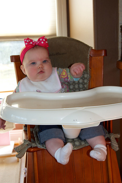 First time in the big high chair!