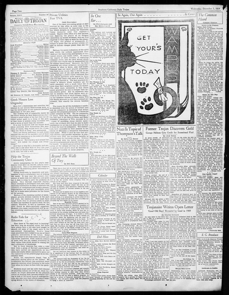 Daily Trojan, Vol. 26, No. 50, December 05, 1934