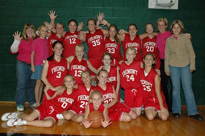 Girls 7th Grade Basketball - 2005-2006 - Undefeated Season with a 10-0 Record