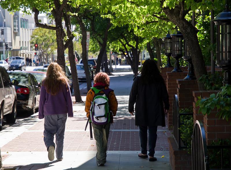 A couple blocks from the mall...Santa Monica.