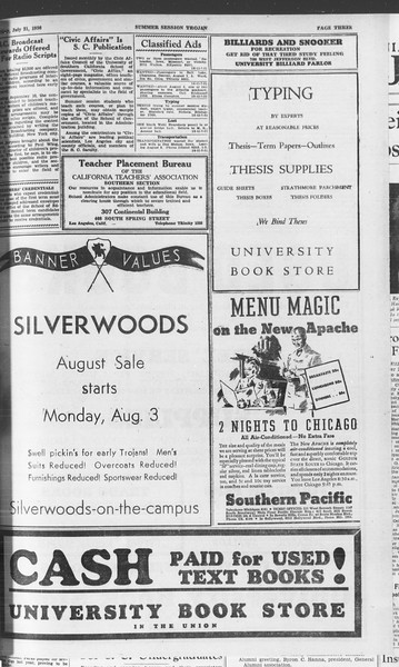 Summer Session Trojan, Vol. 15, No. 12, July 31, 1936