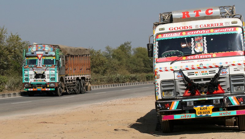 Saw hundreds and hundreds of these blinged-out trucks throughout our many miles through India