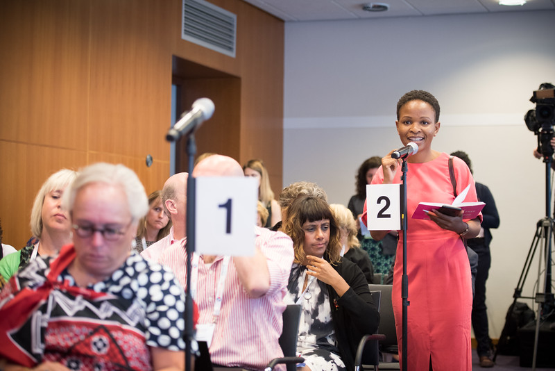 22nd International AIDS Conference (AIDS 2018) Amsterdam, Netherlands   Copyright: Marcus Rose/IAS  Photo shows: Press Conference Green Room. Sub-Saharan Africa: New Insights, New Impact