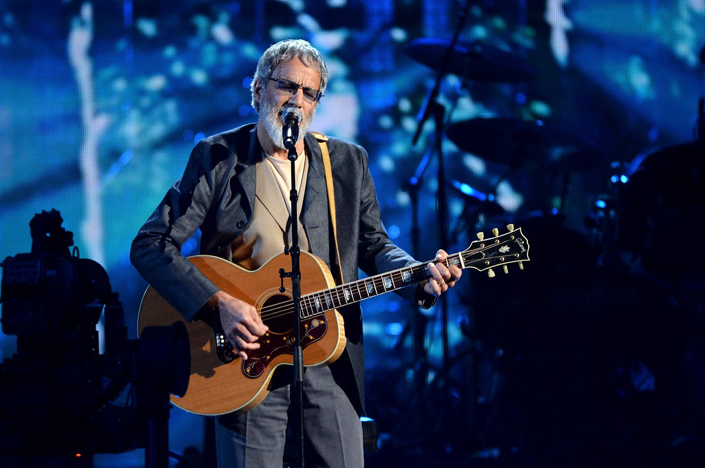 . Inductee Cat Stevens performs onstage at the 29th Annual Rock And Roll Hall Of Fame Induction Ceremony at Barclays Center of Brooklyn on April 10, 2014 in New York City.  (Photo by Larry Busacca/Getty Images)