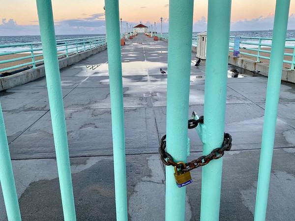 Coronavirus: the closed beaches of the South Bay