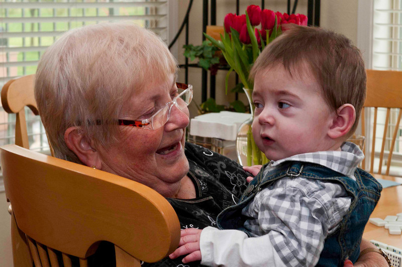 The Oldest and Youngest of the family; Richea 70 and Great Grandson Christian 8 mos.!