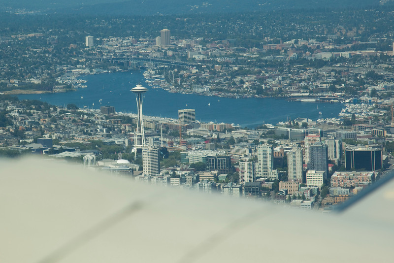The Space Needle in downtown Seattle!