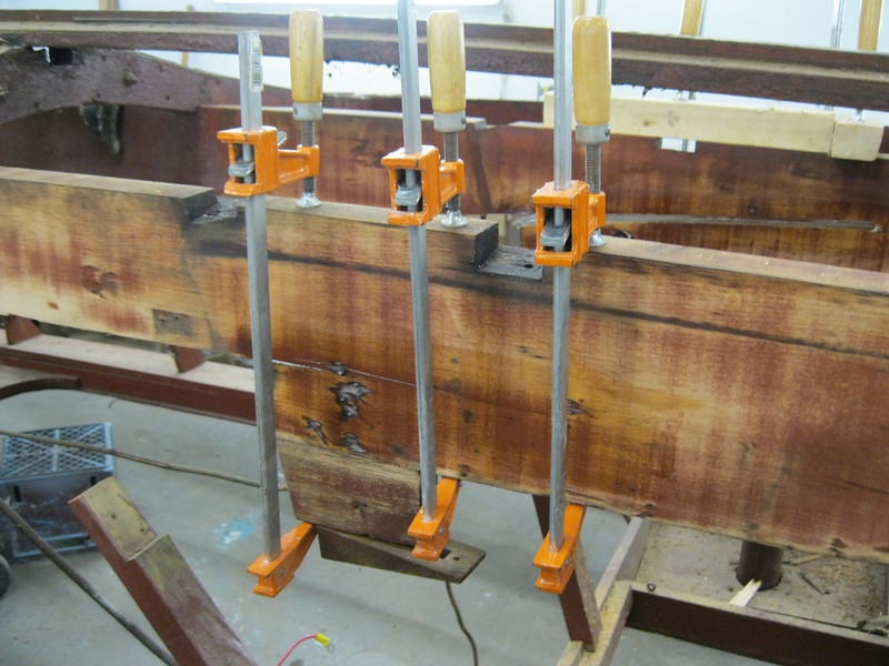 Repairs made to the starboard engine stringer.