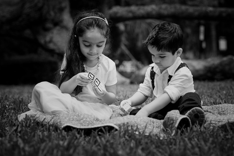 Chawhan kids on grass B&W.jpg