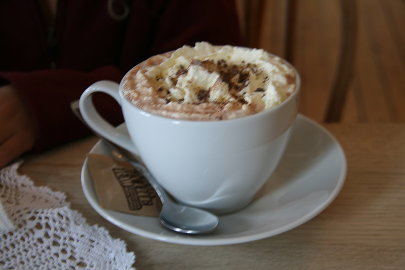 Big cup of hot chocolate.