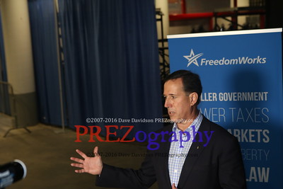 Rick Santorum Avail Rising Tide Summit 12-5-15