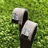 Art Deco Diamond and Emerald Disc Earrings 18
