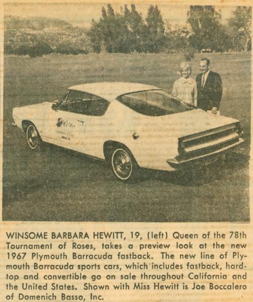 1967, Joe, The Queen, and a Barracuda