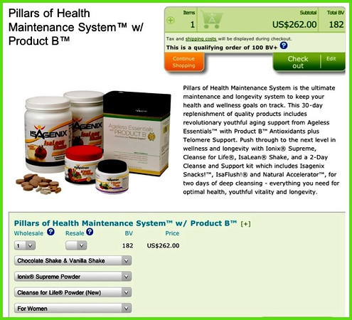ISAGENIX™ - Pillars of Health System with Ageless Essentials & Product-B, Step-by-Step Guide, World Leader in Nutritional Cleansing.