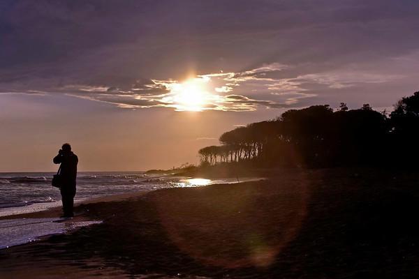 La plage le soir
