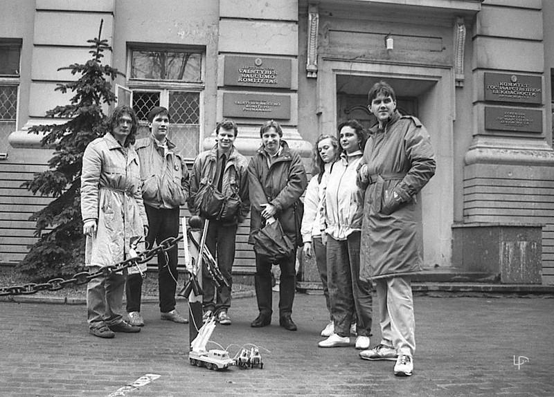 Prie KGB  rūmų 1990-ieji...