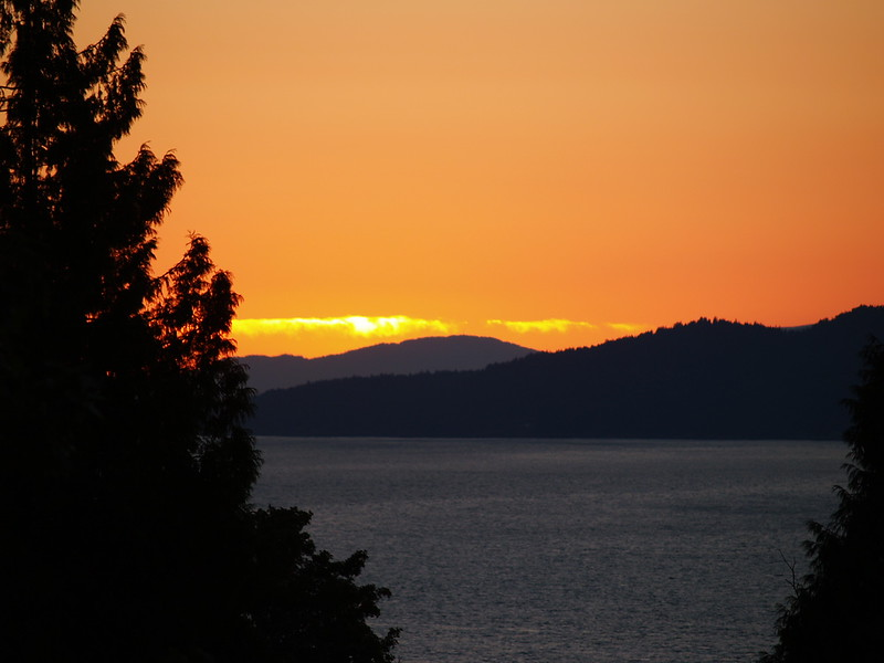 Sunset in late July (2006).