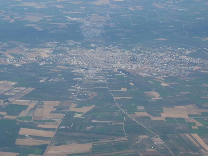 Flying into Bari