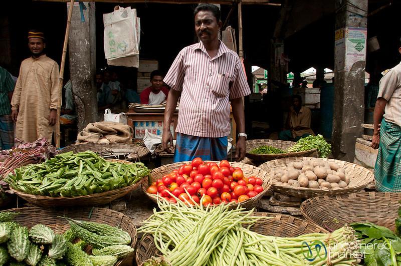 Baskets of Vegetables at Srimongal Market - Bangladesh