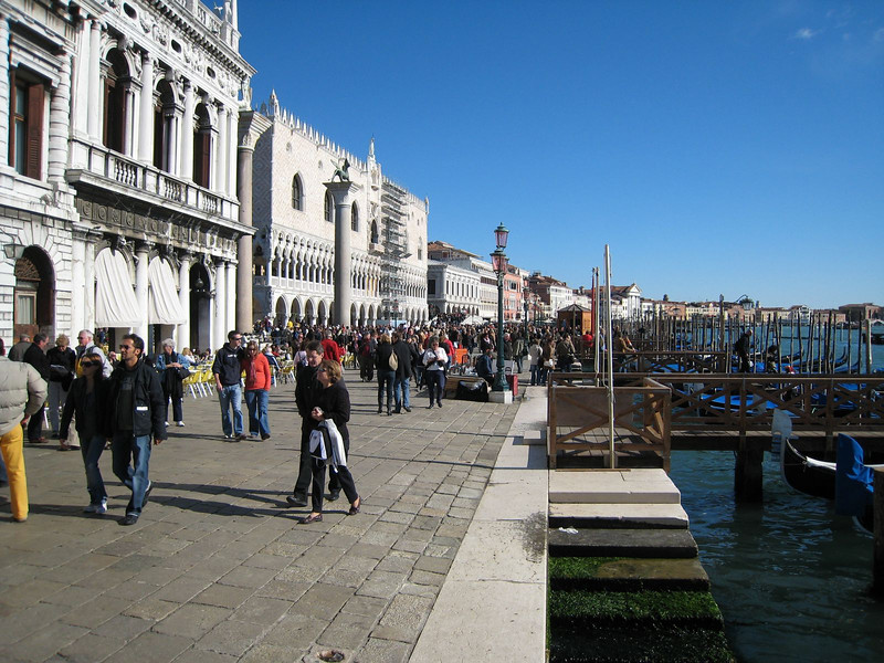 Venice - Along the waterfront around St. Mark's Square