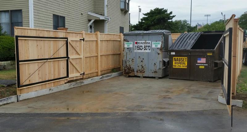 538 - MA - Steel Framed Trash Enclosure