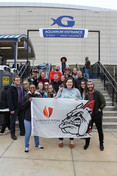 GWU Students at the Atlanta Georgia Aquarium