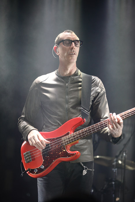 Description of . Pino Palladino of Nine Inch Nails at The Palace of Auburn Hills. Photo by Ken Settle