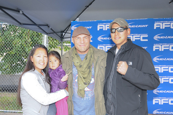AFC Fan Photos with Randy Couture
