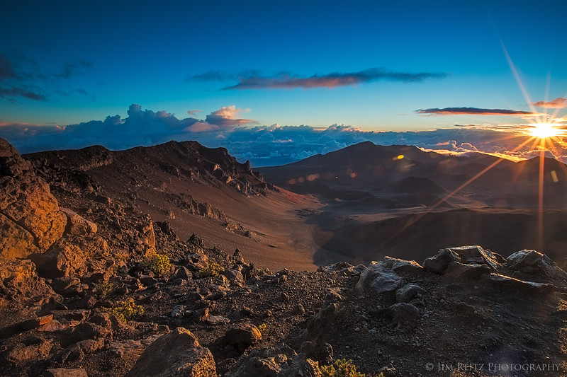 Sunrise above the Haleakala crater