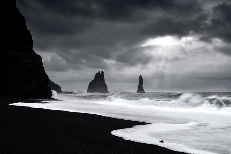 Iceland Vik Sea Stacks Waves to B&W WEB Converted.jpg