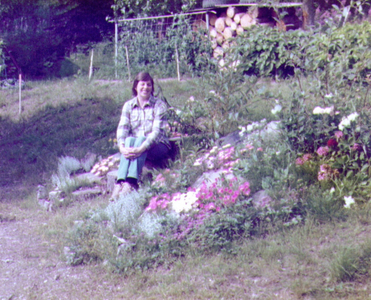 Connie by the rock garden, August 1980 .jpg