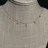 1.01ctw Trillion Rose Cut Diamond Scatter Necklace 20