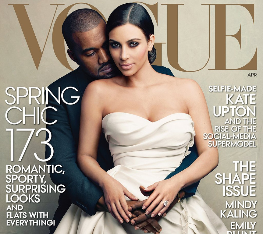 ". <p><b> This trend-setting magazine drew widespread criticism last week when it put Kim Kardashian and Kanye West on its cover � </b> <p> A. Vogue <p> B. Cosmopolitan <p> C. Skank Aficionado <p><b><a href=\'http://www.thedailybeast.com/articles/2014/03/24/will-kim-and-kanye-kill-vogue.html\' target=""_blank\"">HUH?</a></b> <p>    (AP Photo/Vogue, Annie Leibovitz)"