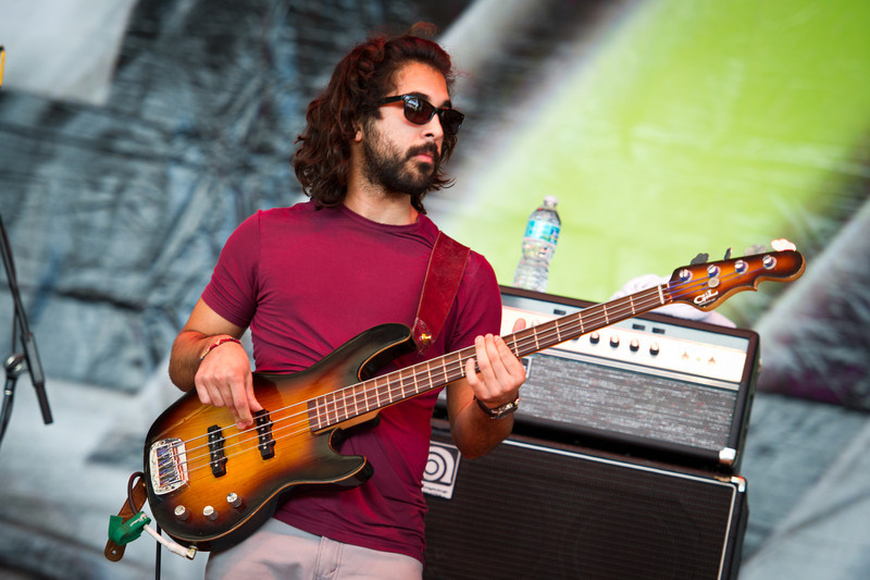 Payam Doostzadeh of Young The Giant performs on December 3, 2011 during 97X Next Big Thing at 1-800-ASK-GARY Amphitheatre in Tampa, Florida