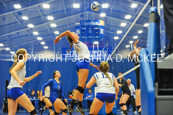 Hamilton College Women's Volleyball v Bowdoin 10-8-16
