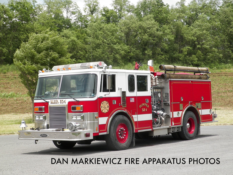 MIFFLIN FIRE CO. ENGINE 32 1990 PIERCE PUMPER