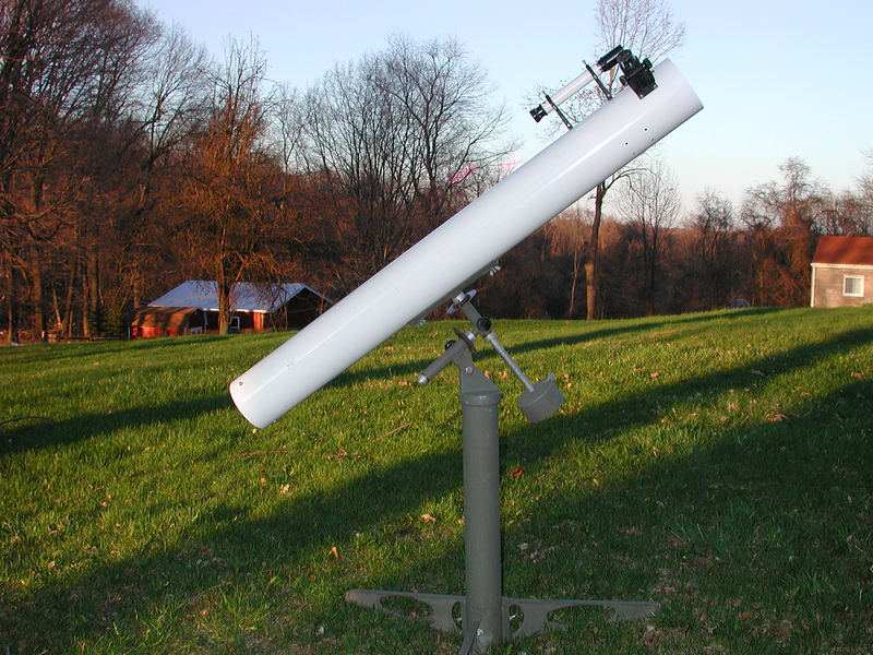 Edmund 4.25 inch f-10 instrument. I obtained this telescope in Washington, PA for $ 100.00 on March 30, 2007. Now that's  good deal !!