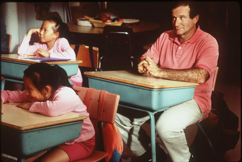 ". 1996 Robin Williams stars in his new movie ""Jack.\"" (STR/Getty Images)"