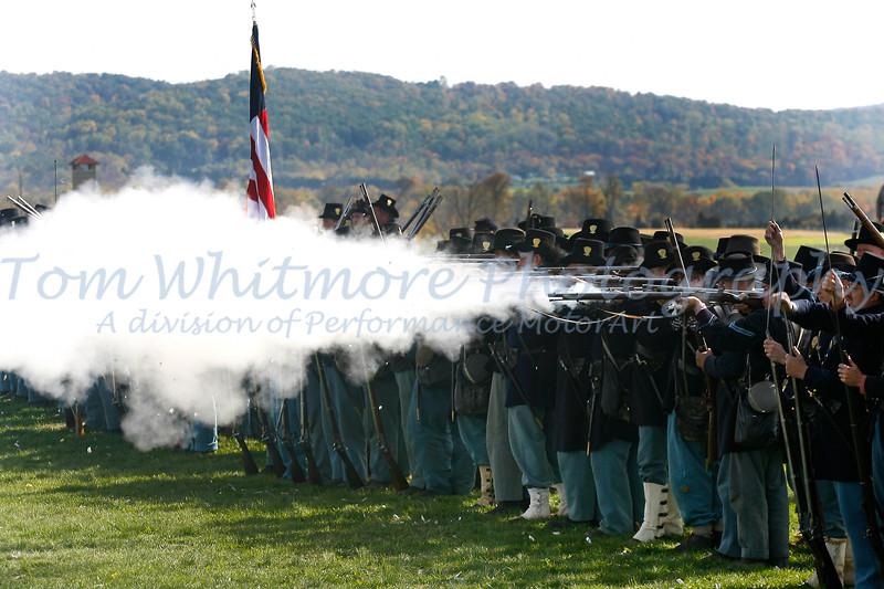 Firing at Antietam.