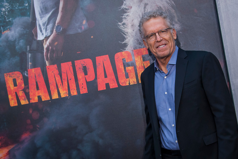 LOS ANGELES, CA - APRIL 04: Carlton Cuse arrives at the Premiere Of Warner Bros. Pictures' 'Rampage' at Microsoft Theater on Wednesday April 4, 2018 in Los Angeles, California. (Photo by Tom Sorensen/Moovieboy Pictures)